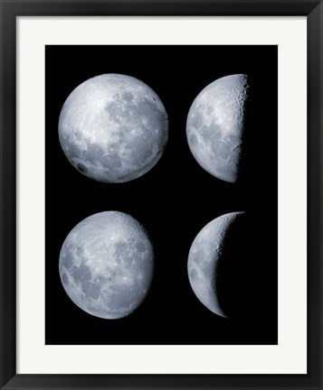 Framed Four Phases of the Moon Print