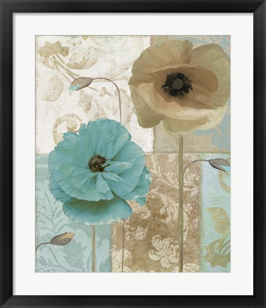 Framed Beach Poppies I Print