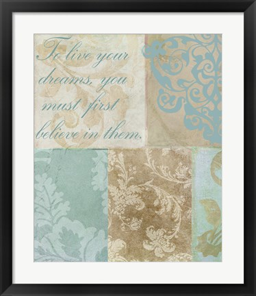 Framed Live Your Dreams Print