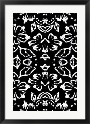Framed Black & White Pattern Print