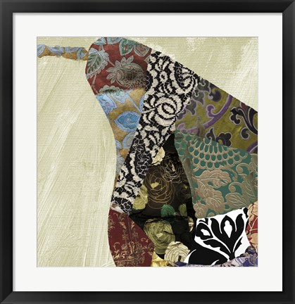 Framed Pear Brocade I Print