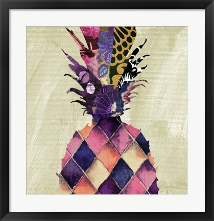 Framed Pineapple Brocade II Print