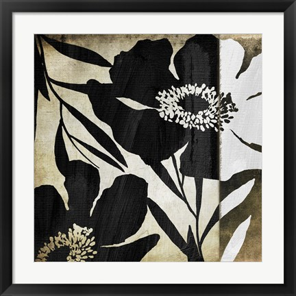 Framed Floral Jungle Lines II Print