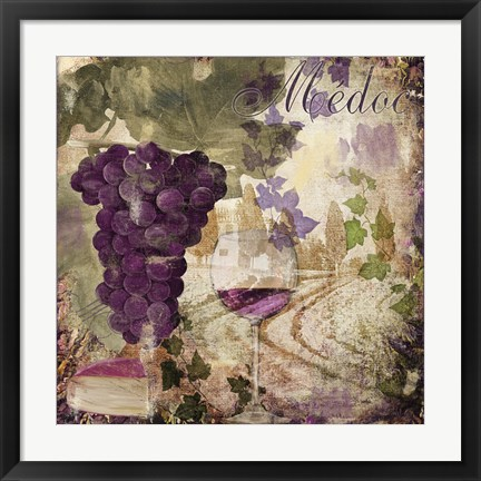 Framed Wine Country IV Print
