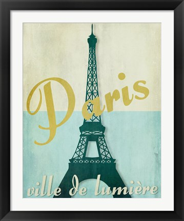 Framed Paris City of Light Print
