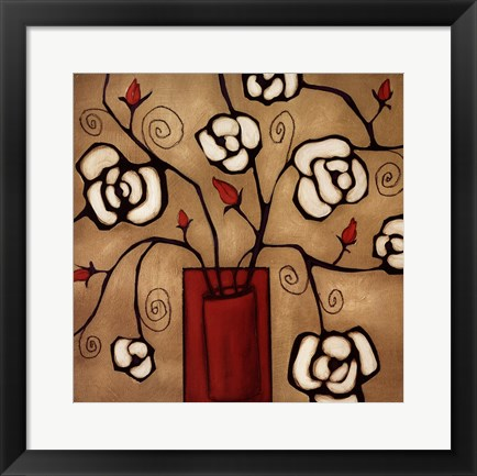 Framed Red Vase Two Print