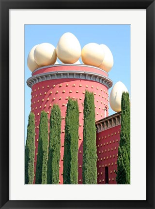 Framed Dali Theater and Museum exterior, Figueres, Spain Print