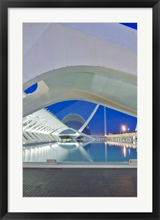 Framed City of Arts and Sciences, Valencia, Spain Print