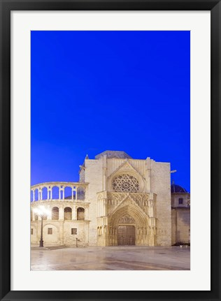 Framed Valencia Cathedral at Dawn, Valencia, Spain Print