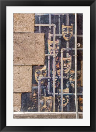 Framed Spain, Bilbao Painted wall, Teatro Arriaga Print