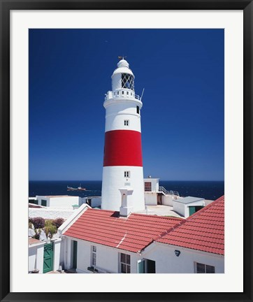 Framed Spain, Gibraltar, Europa Point, Lighthouse Print