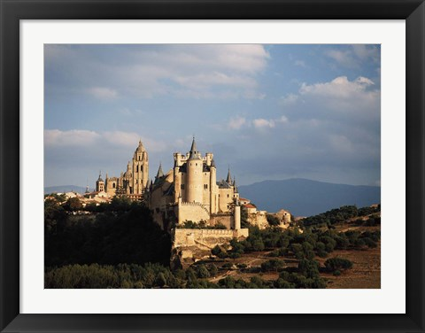 Framed Spain, Sagovia Alcazar Castle Print