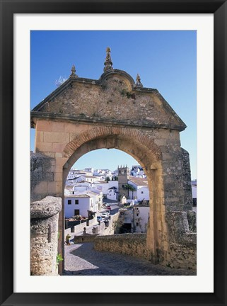 Framed Entry to Ronda's Jewish Quarter, Andalucia, Spain Print
