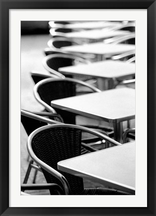 Framed Cafe Tables, Palma, Mallorca, Spain Print