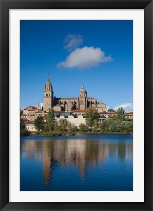 Framed View from the Tormes River, Salamanca, Spain Print
