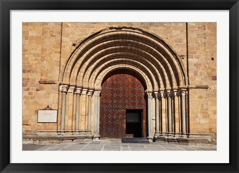 Framed Spain, Avila St Peter's Church in the Plaza De Santa Teresa Print