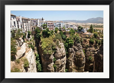 Framed Spain, Andalusia, Malaga Province Hillside town of Ronda Print
