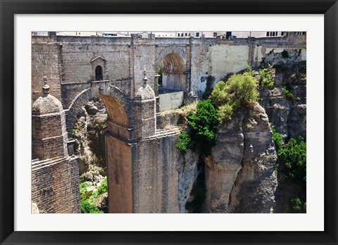 Framed Spain, Andalusia, Ronda Puente Nuevo bridge above El Tajo gorge Print