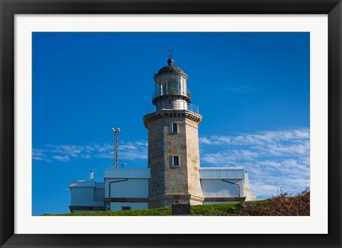 Framed Spain, Cabo Machichaco cape and Lighthouse Print