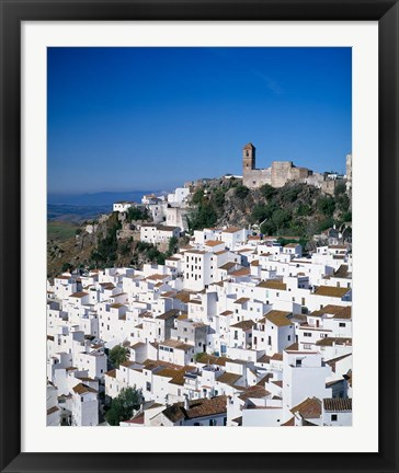 Framed White Village of Casares, Andalusia, Spain Print