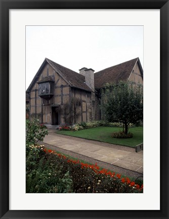 Framed Home of William Shakespeare, Stratford-upon-Avon, England Print