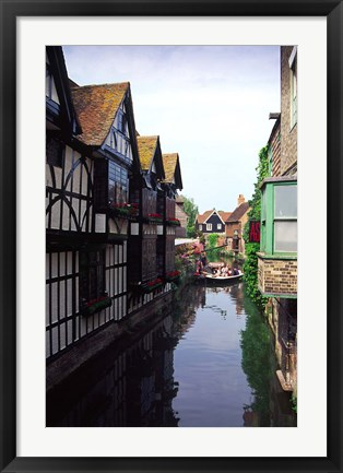 Framed Boating Trips on the River Stour, Canterbury, Kent, England Print