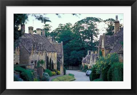 Framed Village of Stanton, Cotswolds, Gloucestershire, England Print
