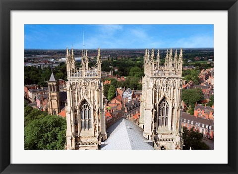 Framed York Minster Cathedral, City of York, North Yorkshire, England Print