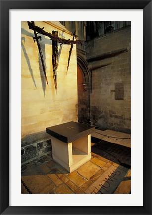 Framed Canterbury Cathedral, Thomas A Becket Shrine, England Print