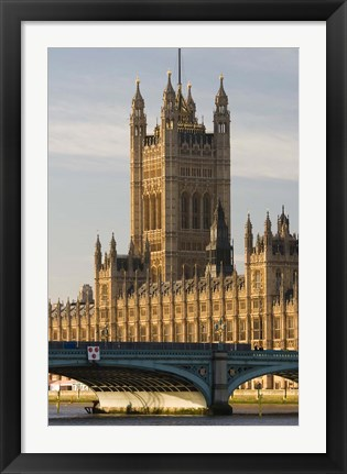 Framed Houses of Parliament, London, England Print