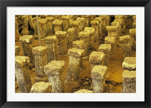 Framed Roman Villa Heating, Cotswolds, Gloucestershire, England Print