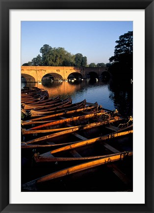 Framed Clopton Bridge on River Avon, Stratford-on-Avon, England Print