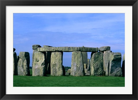 Framed Abstract of Stones at Stonehenge, England Print