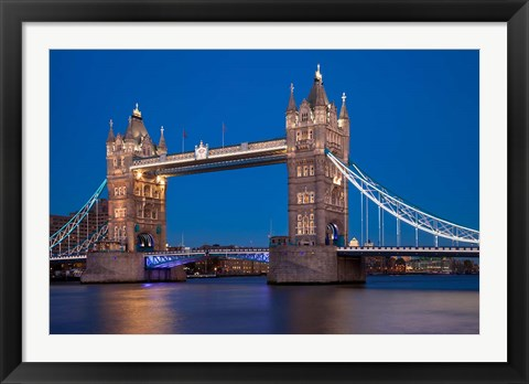 Framed Tower Bridge and River Thames, London, England Print