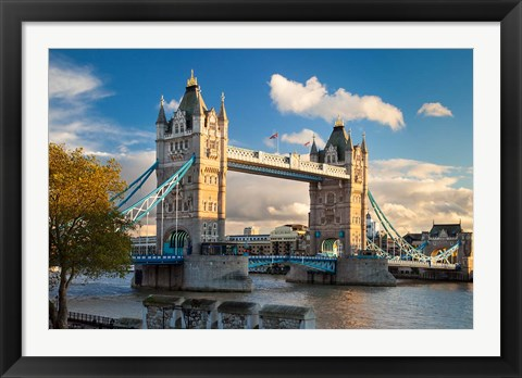 Framed Tower Bridge from Tower of London, England Print