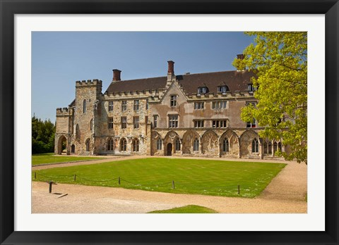 Framed Battle Abbey School, Battle, East Sussex, England Print