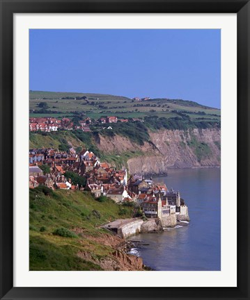 Framed Robin Hood Bay, North Yorkshire, England Print