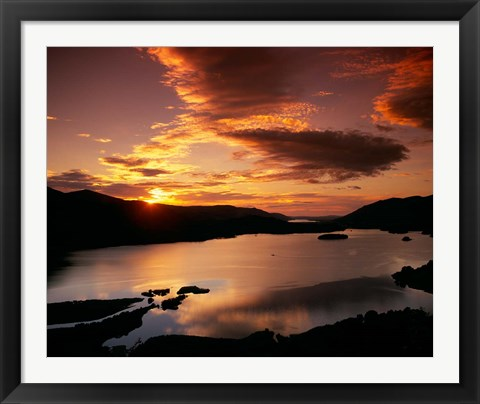 Framed Derwent Water in Lake District National Park, Cumbria, England Print