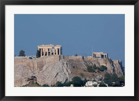 Framed Greece, Athens View of the Acropolis Print