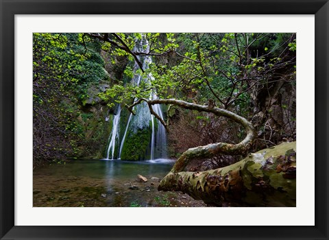 Framed Richtis Gorge near town of Exo Mouliana, Crete, Greece Print