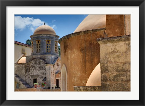 Framed Holy Trinity Monastery, Crete, Greece Print