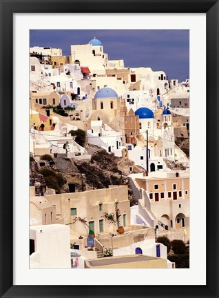 Framed Traditional Architecture on Santorini, Greece Print