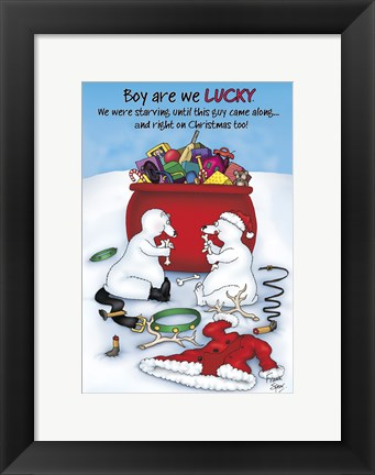 Framed Boy are We Lucky Print
