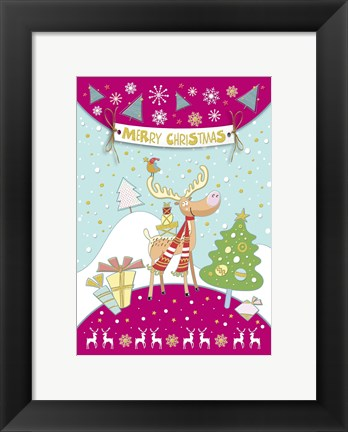 Framed Merry Christmas Dear Greeting Print