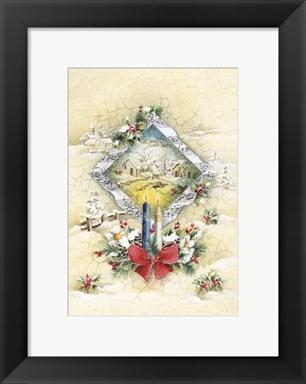 Framed Candles and Holiday Music Print