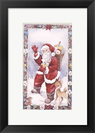 Framed Santa's Christmas Greeting Print