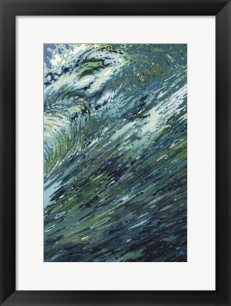 Framed Churning Sea Print