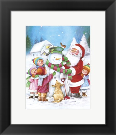 Framed Santa Adds The Scarf Print