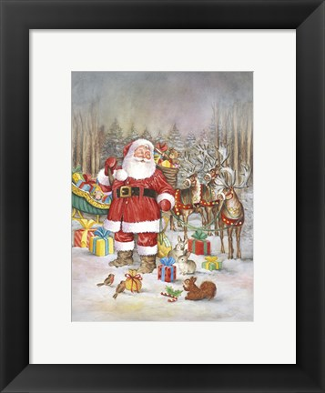 Framed All Set For Santa's Trip Print