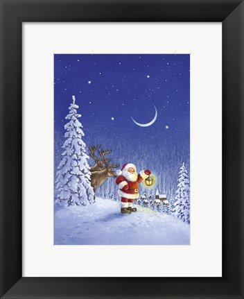 Framed Santa's Evening Search Print